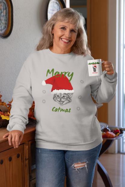 cat christmas jumper